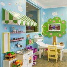 20 Fantastic Kids Playroom Design Ideas – Modern Home Playroom Design, Playroom Decor, Kids Decor, Playroom Ideas, Children Playroom, Basement Daycare Ideas, Home Daycare Rooms, Daycare Decorations, Toddler Daycare Rooms
