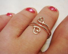 Handmade wire jewelry making rings bridal jewelry by SpiralsandSpice Gold Toe Rings, Sterling Silver Toe Rings, Handmade Wire Jewelry, Wire Wrapped Jewelry, Jewelry Gifts, Toe Ring Tattoos, Pretty Toes, Ankle Bracelets, Fashion Rings