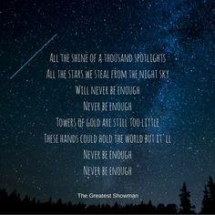 The Greatest Showman Quotes #thegreatestshowman #mayflowerblogs #songlyrics #hughjackman #neverenough