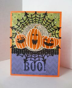 Paper Seedlings: 3 PUMPKINS AND A BOO