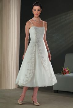 Tea Length Wedding Dresses for Older Brides | Jewelry Accessories World: tea length bridal dresses