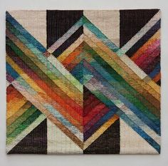 Judith Poxson Fawkes Four Entwined 2011 linen inlay tapestry