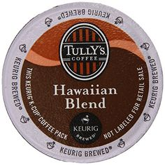 Tullys Hawaiian Blend Extra Bold Coffee Keurig KCups 24 Count * Visit the image link more details. Note: It's an affiliate link to Amazon.