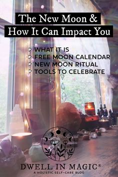Looking to know what the new moon means, how it can impact you, rituals to celebrate and a calendar? We've got you covered! New Moon Calendar, New Moon Meaning, New Moon Rituals, Moon Magic, Spirituality, Mindfulness, Witchcraft, Wiccan, Magick