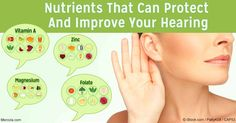 Astaxanthin, vitamin A, folate, zinc and magnesium are some nutrients found to be beneficial for protecting and improving hearing. http://articles.mercola.com/sites/articles/archive/2016/12/05/nutrients-protect-improve-hearing.aspx