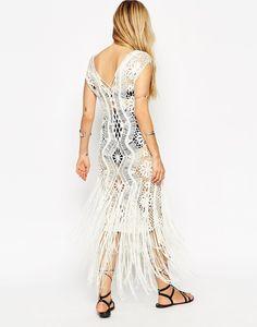 Outstanding Crochet: ASOS Premium Crochet Dress With Fringing