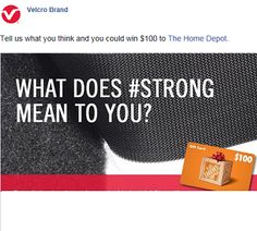 you could win $100 to The Home Depot