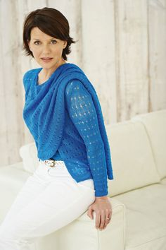 Knitting pattern woman's waterfall cardigan