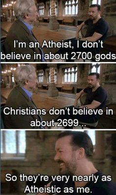 Ricky Gervais on atheism.