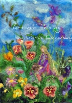 Flowers Fairy /Photo Print  of my original wool Needle felted