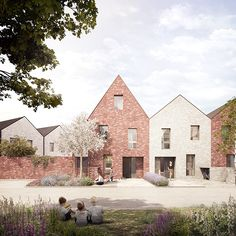 Bell Phillips Architects has won approval for this 128 home, council-backed scheme in Tilbury, Essex Architecture Plan, Residential Architecture, Low Budget House, Architects Journal, Council House, Suburban House, Arch House, Social Housing, New Homes
