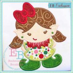 Elf Girl Applique