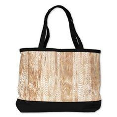 Lovely Pine Wood Texture Shoulder Bag