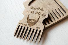 Custom Beard Comb in box Beardcare accessory wood walnut comb men gift Beard care  Valentine gift for boyfriend