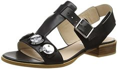 Clarks Bliss Melody, Damen Sandalen, Schwarz (Black Leather), 36 EU (3.5 Damen UK) - http://on-line-kaufen.de/clarks/36-eu-clarks-bliss-melody-damen-sandalen-3