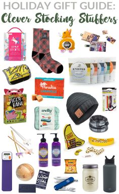 We love to find clever, creative, fun and practical stocking stuffer ideas and take as much time choosing them as we do selecting gifts for under the tree. Diy Holiday Gifts, Holiday Gift Guide, Holiday Decorations, Christmas Stocking Stuffers, Stocking Stuffer Ideas, Christmas Stockings, Christmas Makes, Christmas Fun, Xmas Ideas