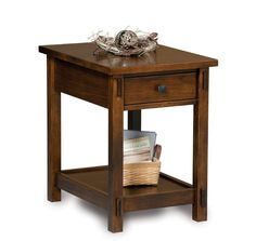 Amish Centennial Open End Table with Drawer