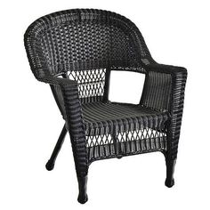 Jeco Wicker Patio Chairs (Set of 4) (Espresso Wicker), Brown, Patio Furniture (Steel)