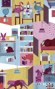 Cono Sur. Lotta Nieminen always creates   very nice and coloful illustrations