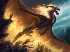 Llamarada de dragón negro, de Todd Lockwood