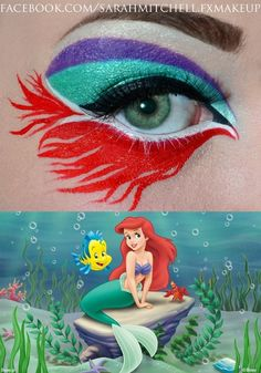 Ariel Inspired my granddaughter would love this... Maybe for Halloween. Totally up Bella's alley!