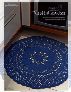 Blue rug with diagram - I wouldn't let anyone step on it, is too pretty