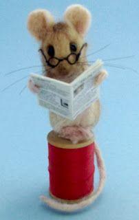 Needle Felted Art by Robin Joy Andreae Maus Illustration, Felt Art, Mice, Needle Felting, Robin, Teddy Bear, Joy, Pure Products, Miniature