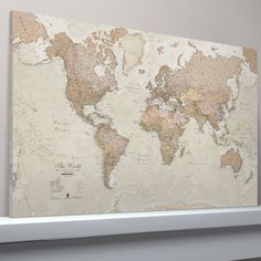 Vintage world map canvas print wall decor world map canvas print antique map of the world canvas print gumiabroncs Image collections