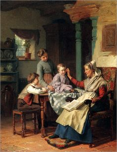 Trying on Grandmother's Spectacles -- by Theodore Gerard