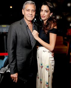 Amal and George Clooney Are the Perfect Matching Couple at L.A. Charity Event from InStyle.com