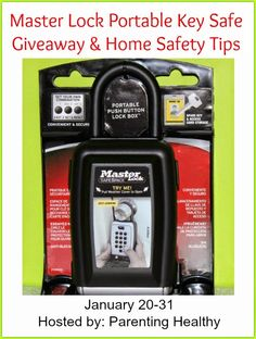 This is a promotional post for Master Lock. I was provided a lock. All opinions are 100% my own Master Lock & The American Red Cross have teamed up for a safety campaign Enter to win a Master Lock Portable Key Safe below Sponsor: Master Lock Host: Parenting Healthy Giveaway runs 1/20-1/31, 2015 Master Lock …