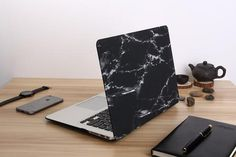 Shop for on Etsy, the place to express your creativity through the buying and selling of handmade and vintage goods. Marble Macbook Case, Macbook Hard Case, Marble Case, Macbook Air Pro, Keyboard Cover, Marble Print, Apple Logo, Black Marble, Tech Accessories