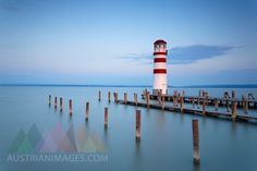 Austria, Burgenland, View of lighthouse at Lake Neusiedl Seen, Austria, Lighthouse, Gallery, Photography, Tights, Destinations, Bell Rock Lighthouse, Light House