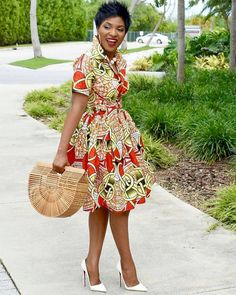 African clothing for women/ African prints dress for proms/ Ankara dress for weddings/ African shirtdress/Ankara - African fashion African Fashion Designers, African Inspired Fashion, African Print Fashion, Africa Fashion, African Prints, African Fabric, Tribal Fashion, Modern African Fashion, African Dresses For Women