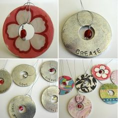 Industrial Strength Jewelry made using washers and Mod Podge