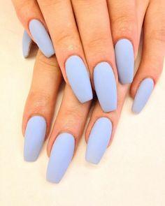 ▷ 1001 + Nageldekorationsideen aus Acryl 2018 - 2019 - Make-Up & Nails - - Nageldesi. ▷ 1001 + Nageldekorationsideen aus Acryl 2018 - 2019 - Make-Up & Nails - - Nageldesign , Acrylic Nails Pastel, Simple Acrylic Nails, Summer Acrylic Nails, Acrylic Nail Designs, Summer Nails, Pastel Blue Nails, Light Colored Nails, Light Blue Nails, Simple Nails