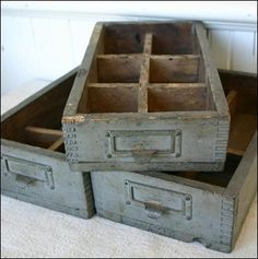love these old drawers... perfect for SO many things