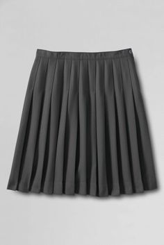 Women's Solid Pleated Skirt (Below The Knee) from Lands' End