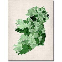 Trademark Art Ireland Watercolor Canvas Wall Art by Michael Tompsett, Size: 35 x 47, Multicolor