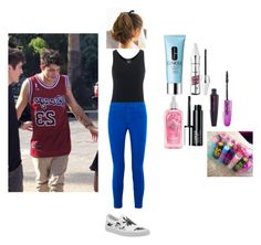 """""""School with Nate (Skate) Maloley"""" by princesselune97 ❤ liked on Polyvore featuring Majestic Filatures, J Brand, Vans, Clinique, Benefit, L'Oréal Paris and Hollister Co."""