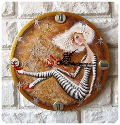 Sometimes art is functional too - like with this beautifully hand painted clock...  by ArtClock  $40.00