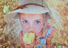 "My new coloured pencil drawing ""The Farmer's Daughter"" based on a photography by John Wilhelm."
