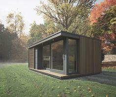 Que buena idea, tener tu oficina en el parque si tenés una casa así!... Verde por la ventana y mucha tranquilidad!