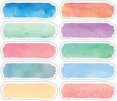 - Watercolor Labels Magnetic Accents, Decorate your whiteboard in a snap with durable, reusable magnetic decor! Add flair to any magnetic receptive . Journal Stickers, Planner Stickers, Printable Stickers, Cute Stickers, Art And Illustration, Cursive Alphabet, School Labels, Teacher Created Resources, Tumblr Stickers