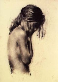 Charlie Mackesy Title: Girl Date: 1995 Medium: Charcoal on paper