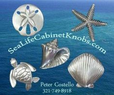 NOT TO SELF: for you future bathroom, she we have our own home  Sea Life Cabinet Knobs - Coastal Home Kitchen
