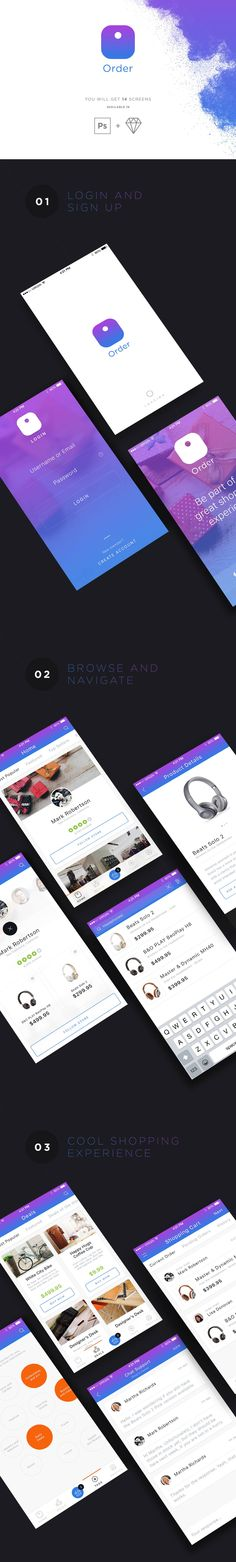 AON - a pack of 3 beautiful iOS apps on Behance