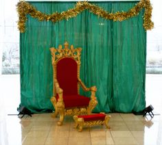 A throne fit for a king. or Santa! 34 Street, Holidays And Events, Cheer, Santa, King, Red, Christmas, Inspiration, Xmas