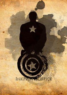 Captain America,Art Print,The Avengers Marvel Comics,Avengers,Captain America poster, Captain print,wall art,Comic Wall Art,Superhero Poster