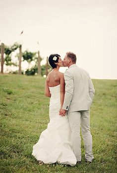 Brides.com: Wedding Hairstyles for Brides with Short Hair. A Short Hairstyle With a White Flower  This hairstyle is the definition of short and sweet. A small white flower is all this bride needed to accent her no-fuss cropped wedding day 'do.  See more short wedding hairstyles.